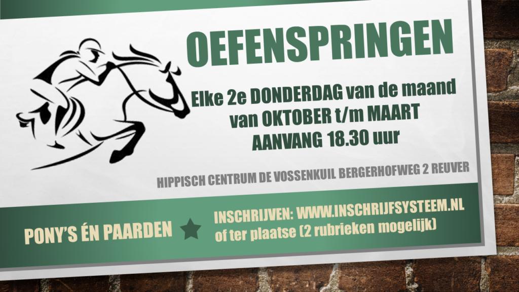 Oefenspringen paarden en pony's @ Hippisch Centrum de Vossenkuil